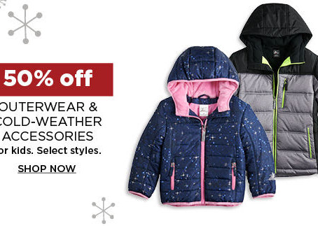 Kohl's Daily Wow Deals | 50% OFF Kids Outerwear and Cold Weather Gear