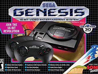 Sega Genesis Mini + 2 Controllers + 42 Games