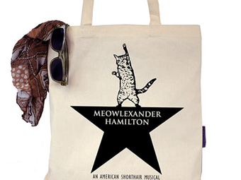 Hamilton Inspired Cat Tote and More!