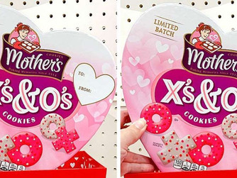 Mother's Cookies Has New X's and O's Shapes For Valentine's Day