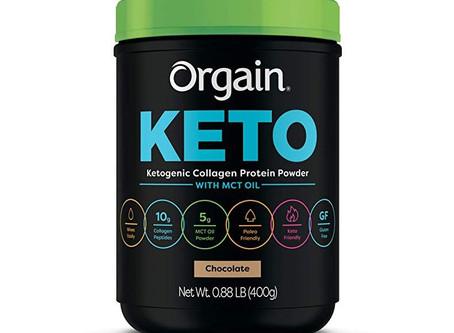 Orgain Protein Powder: 0.88lb Keto Collagen Protein Powder (Choc. or Vanilla)