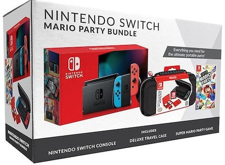 Nintendo Switch Bundle with Mario Party & Case + HOT Kohl's Cash Back Deal