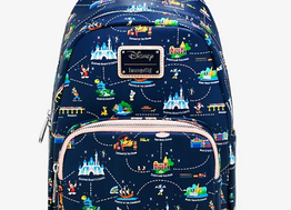Loungefly Disneyland 65th Anniversary Map 2-in-1 Convertible Mini Backpack - BoxLunch Exclusive