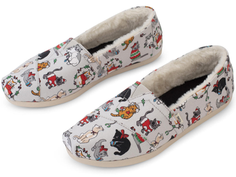 Toms   Holiday Cats CloudBound Alpargata Slip-on Shoes