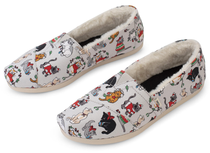 Toms | Holiday Cats CloudBound Alpargata Slip-on Shoes