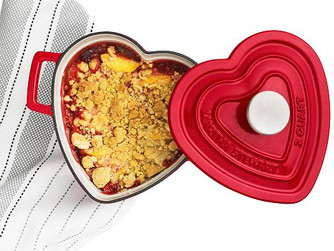 Martha Stewart Collection Enameled Cast Iron 2-Qt. Heart-Shaped Casserole at Macy's