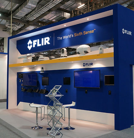 Exhibition booth design and constructed for FLIR in Korea