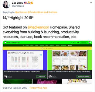 Zoe Chew, Product Builder