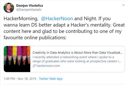 Damjan Vlastelica, Data Artist