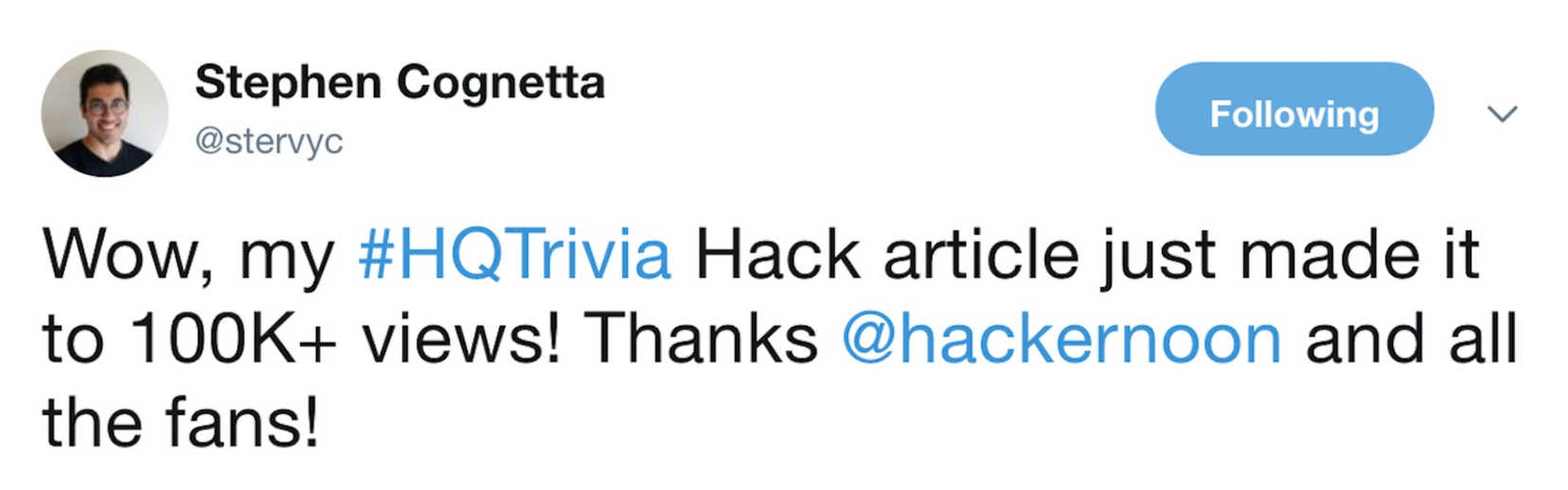 Stephen Cognetta, Hack Mental Health Founder