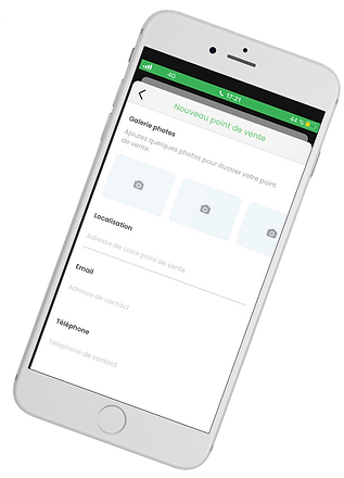 Ecran fiche AMAP - Application La Mano Verde pour consommation locale