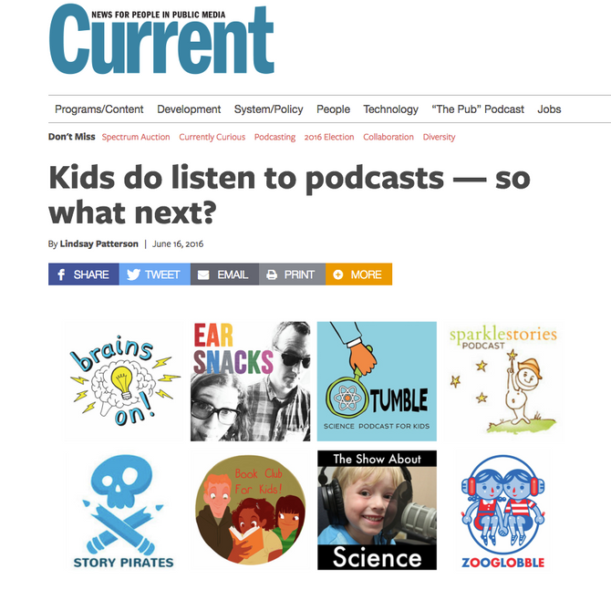 Current: Kids Do Listen to Podcasts - So What Next?