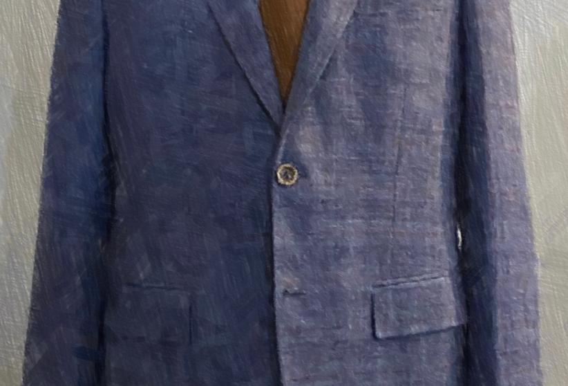 Blue Check Jacket (Wool Linen)