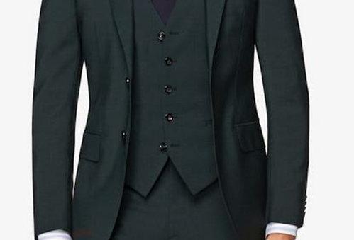 Dark Green Suit (3 Pcs)