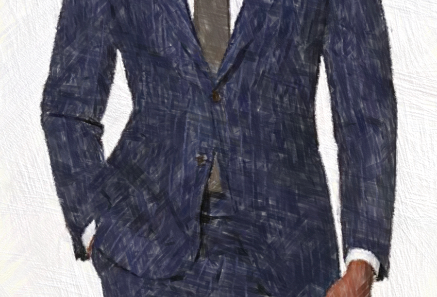 Dark Grey Stripe Suit