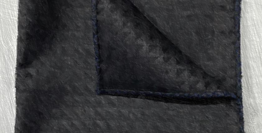 Dark Grey Pocket Squares