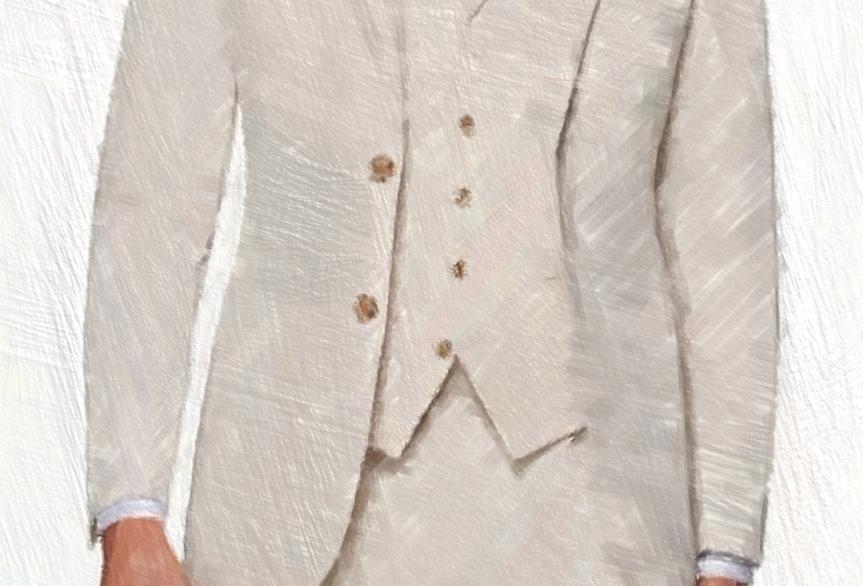 White Cotton Suit (3 Pcs)