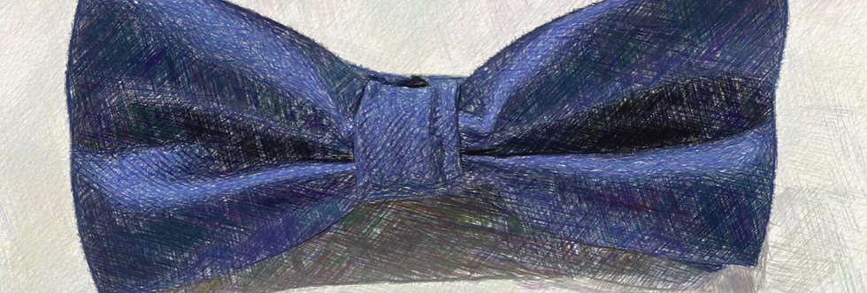 Blue Bow Tie (Hand Made)