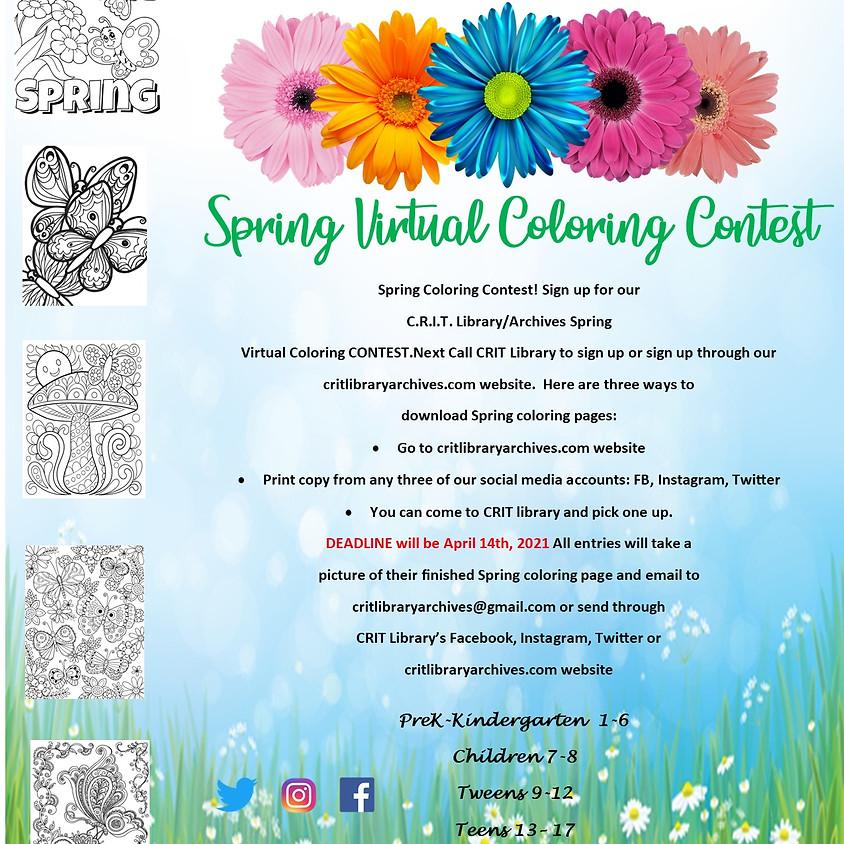 Spring Virtual Coloring Contest