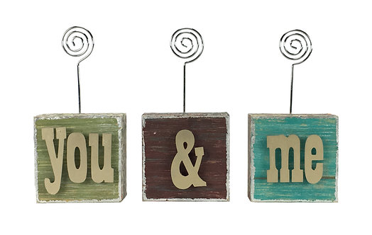 You & Me Photo Blocks w/ Letters