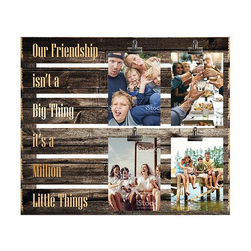 Friendship Wood Slat Photo Clip