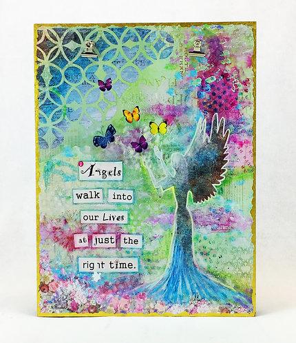 Angel Art Photo Board Canvas