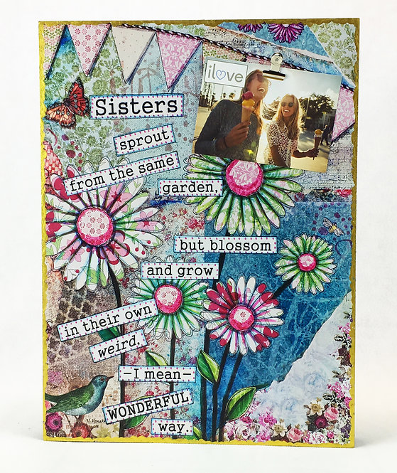 Sister Art Photo Clip Board