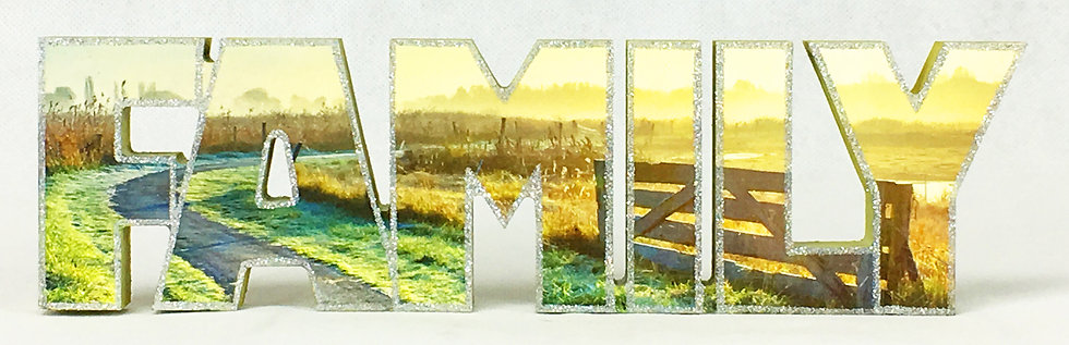 FAMILY Block Letters