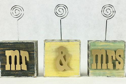 Mr & Mrs Photo Blocks w/ letters