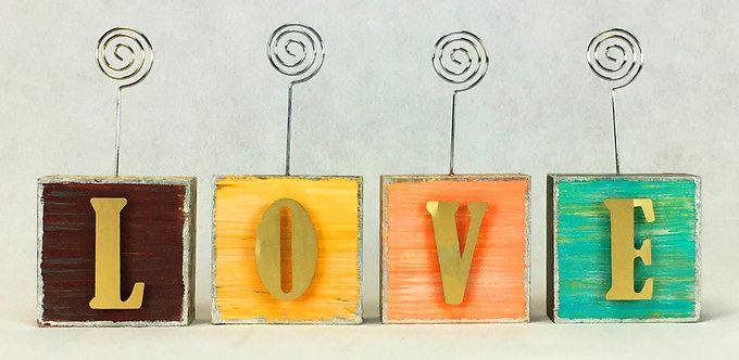 LOVE Photo Blocks w/ Letters