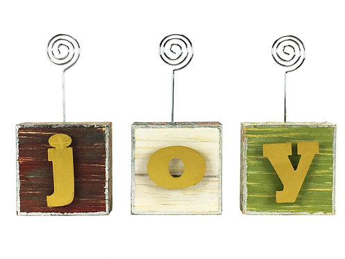 Joy Photo Blocks w/ Letters