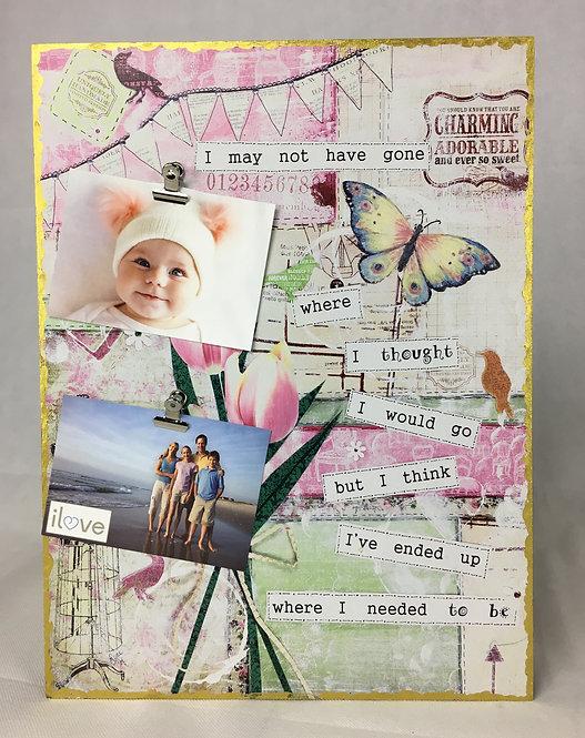 Tulip Art Photo Clip Board