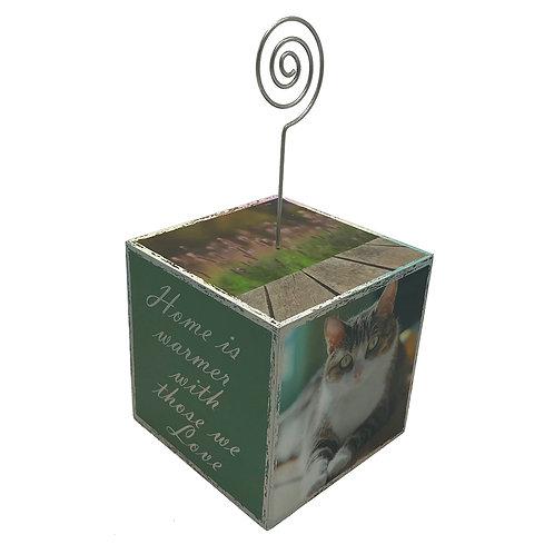 Small Pet Cat Photo Cube