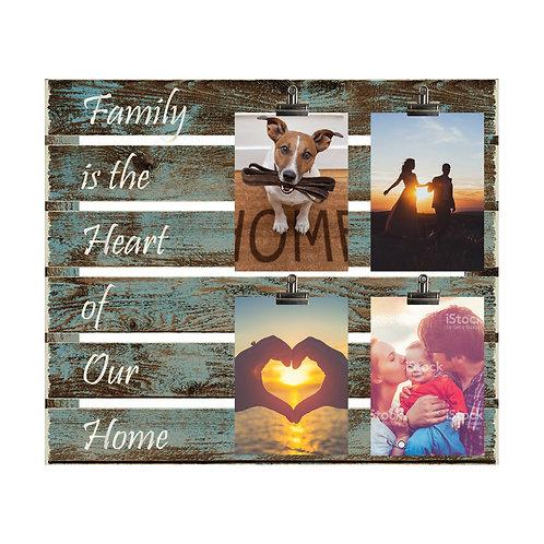 Heart of Home Wood Slat Photo Clip