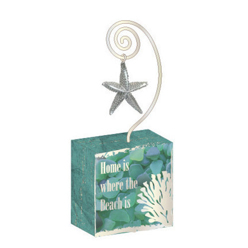 Starfish Photo Block w charm