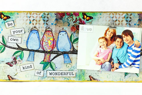 Bird Art Horizontal Photo Board