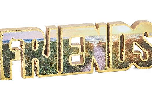 FRIENDS Block Letters (Brown)