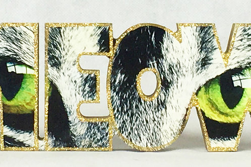 Meow Block Letters
