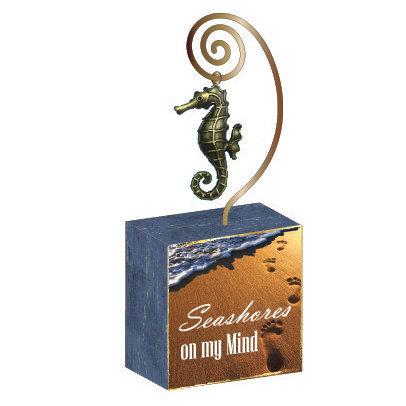 Photo Block w/Charm Seahorse
