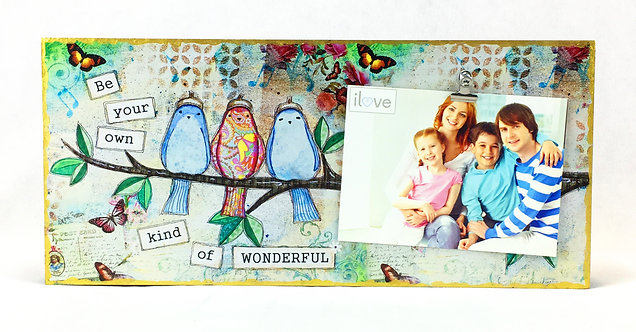 Bird Art Horizontal Photo Clip Board