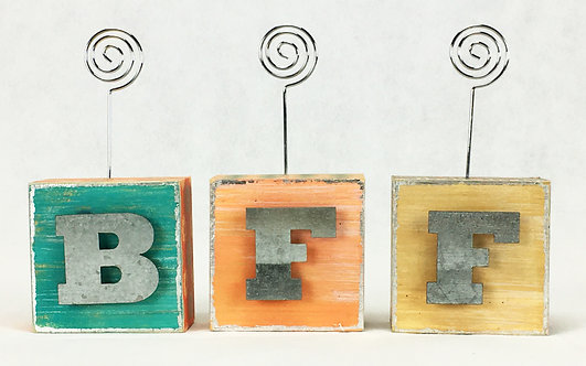 BFF Photo Blocks w/ Letters
