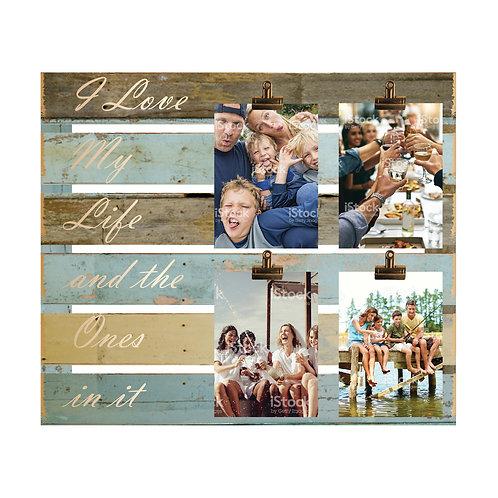 Love My Life Wood Slat Photo Clip
