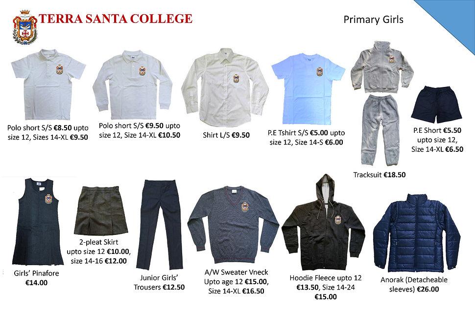 Terra Santa Primary School uniform leafl