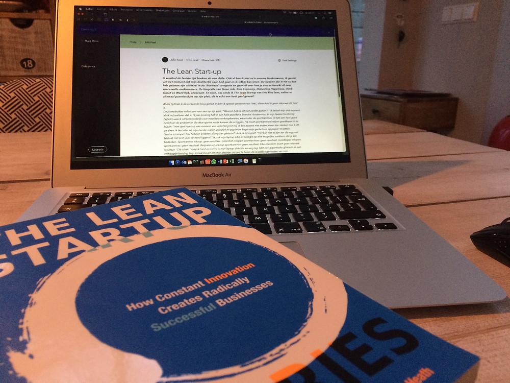 The Lean Startup van Eric Ries, een standaardwerk voor elke startup ondernemer, en voor mij het begin van een mooie reis.