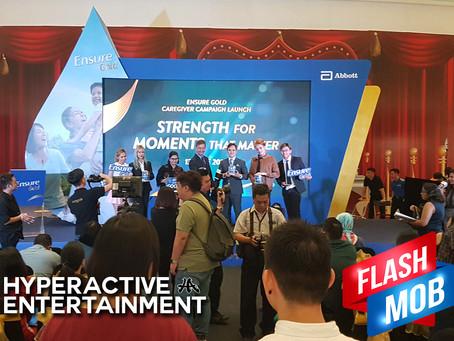 Grand Product launching #Flashmob Ensure Gold !