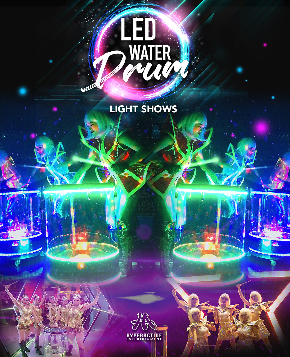 LED Water Drum