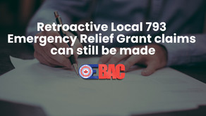 Retroactive Local 793 Emergency Relief Grant claims can still be made