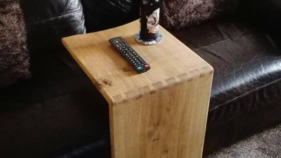 Handcrafted solid oak dovetailed sofa table/side table