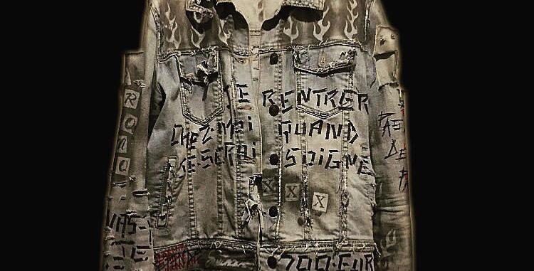 Blue denim custom jacket