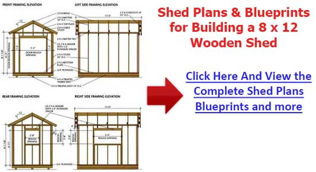 Diagrams For A 10x8 Potting Shed Do It Yourself Garden